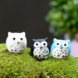 4 Colours Owl Family Miniature Fairy Garden - DealsBlast.com