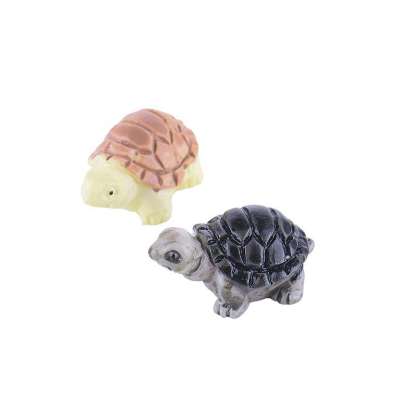 2Pcs Mini Miniatures Tortoise Decoration Fairy Garden - DealsBlast.com