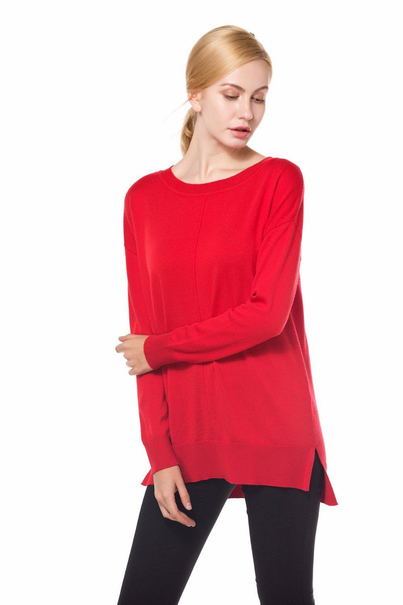 Women Christmas Sweaters Navy Red Pullovers - DealsBlast.com