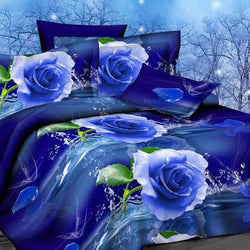 Flower 3d bedding set,Home textiles 4pcs family set. include: Duvet cover/sheet/pillowcase - DealsBlast.com