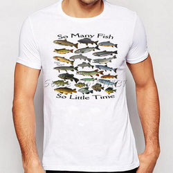 Men Funny So Many Fish Freshwater Printed T-Shirt - DealsBlast.com