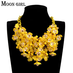 Maxi flower choker necklace New spring fashion boho jewelry display Big statement necklace for women accessories