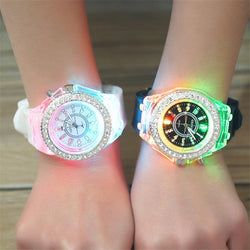 School Boy Girl  Watches Electronic Colorful Light Source Sister brother Birthday kids Gift Clock Fashion Children's Wrist Watch - DealsBlast.com