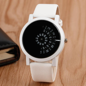 Korean Style Male Casual Leather Strap Watch - DealsBlast.com