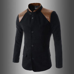 New Fashion Suit Slim Fit Solid Color Patchwork Single Breasted Blazer Outerwear Male Men Suit,Fashion Picks. - DealsBlast.com