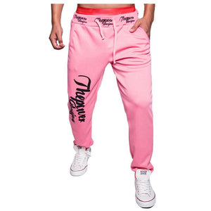 New Winter Men's Letters Printed Men Joggers Loose Tether Home Fitness Pants Casual Men Jogger Pants M-XXL - DealsBlast.com