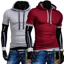 T-shirt Men Cotton Summer O-Neck collar Fashion Solid Shirt, Brands T-shirt Men 5 Colors - DealsBlast.com