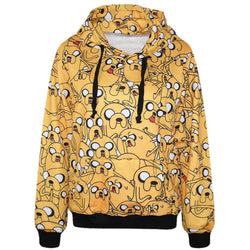 High Quality Adventure Time Jake Dog 3D Printed Women Hoodies With Pocket Casual Long Sleeve Blouse Tops Fashion Women Tracksuit - Deals Blast
