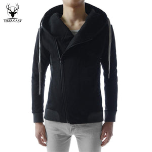 New Fashion Men Hoodies Casual Oblique Zipper Brand Hoodie Mens Hooded Jackets Men Sweatshirt - DealsBlast.com
