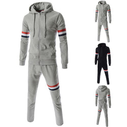 New Fashion Men Suits Men Spring/Autumn Hoodies Set/Sweatshirts+Pant Ribbon Design Mens Tracksuits Sportwear  3XL - DealsBlast.com