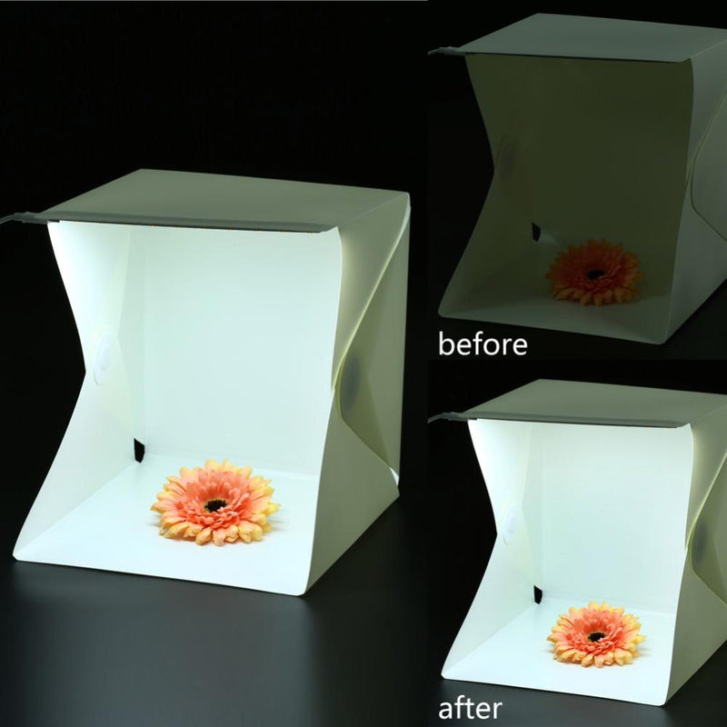 All-In-One Portable Mini Foldable Photo Studio Built-In Light Photography Backdrop Box - DealsBlast.com