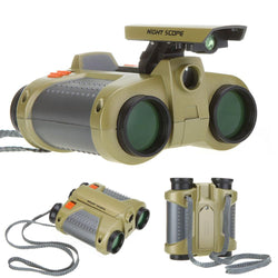 4 x 30 mm Night Scope Binoculars with Pop-up Light