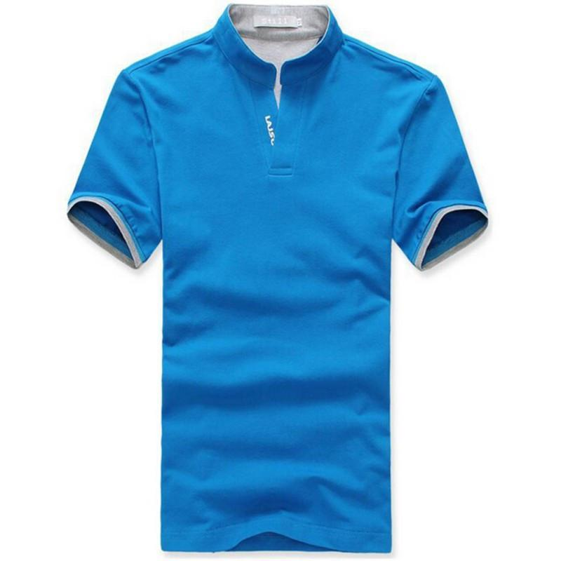 V Neck Short Sleeve Men Male T-Shirts - DealsBlast.com