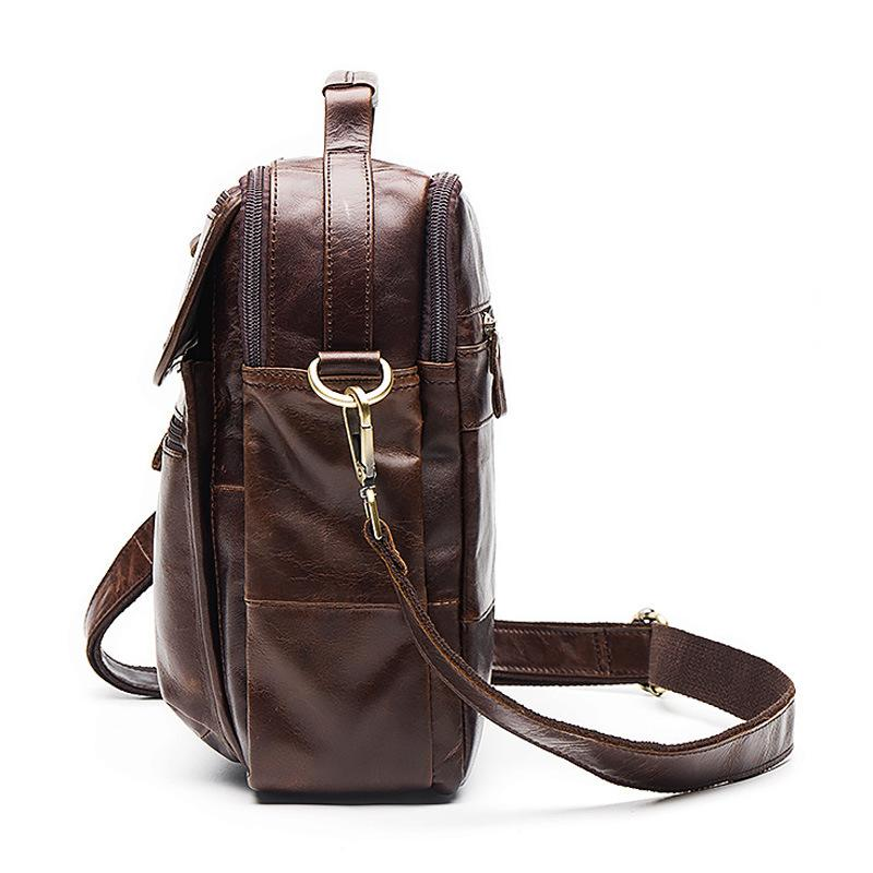 48f1e7e33a94 Man bag genuine leather man shoulder bags designer vintage men messenger bag  briefcase male crossbody Laptop