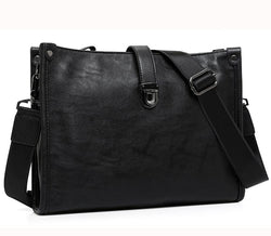 Genuine leather men messenger bags vintage men shoulder bag briefcase crossbody Laptop bags black - DealsBlast.com