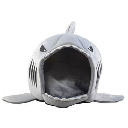 Dog Cat Bed Shark Mouse Shape Washable Dog house Pet Sleeping Bed Dog Kennel Pet Nest Removable Cushion Gray Blue Pink Colors - DealsBlast.com
