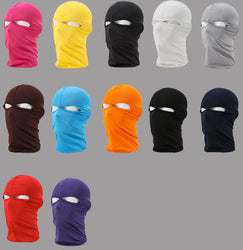 New Cap Beanie Men Women 2 Hole Full Motorcycle Cycling Masks Ski Outdoor Balaclava Face Mask Cover Hat Head Hood Sun Wind Dust - DealsBlast.com