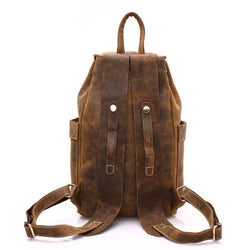 Leather man backpack 100% genuine leather man bag high quality men shoulder duffel bag school men travel Laptop bag - DealsBlast.com