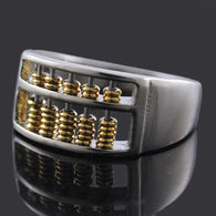 High Quality Maths Number Stainless Steel Abacus Ring For Men Women - DealsBlast.com
