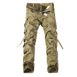 Military Camouflage Overalls Men Cargo Pants Overalls Big Yards Men's Multi Pocket Jeans Top Quality