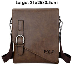 Men's Shoulder Bags Fashion Brand Crossbody Male Messenger Bag Quality leather Portfolio Handbags - DealsBlast.com