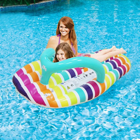 158*70cm Inflatable Rainbow slipper Floating Mat Row Beach Mat Thick, Letters slipper Swimming Floating Bed