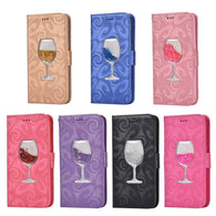 New Liquid Quicksand Wine Glass Glitter Leather Case For iPhone 7 5SE 6 6S Plus Luxury 3D Flip Stand Wallet Cover Bag Card Slots - DealsBlast.com
