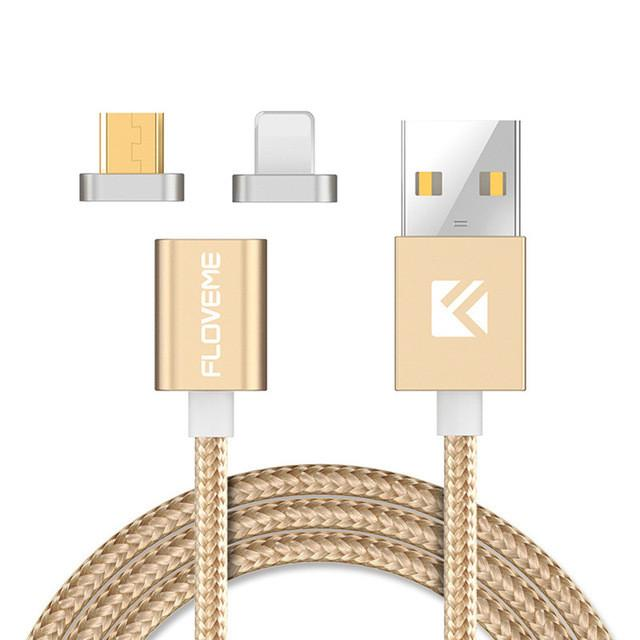 Universal Magnetic USB Charging Cable For iPhone 5 6 7 and Samsung Galaxy 5 6 7 8 LG SONY HTC Android Phones - DealsBlast.com