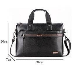 Men Casual Briefcase Business Shoulder pu Leather Bag Men Messenger Bags Computer Laptop Handbag Bag - DealsBlast.com