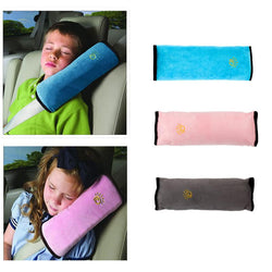 Baby Pillow Kids Shoulder Pad Cover Car Auto Safety Seat Belt Harness Children Head Protection Covers Anti Roll Pillow Cushion - DealsBlast.com