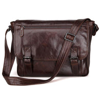 Cowhide men shoulder bags business genuine leather crossbody Laptop bag vintage men messenger bags - DealsBlast.com