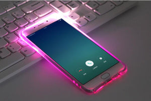 Soft TPU LED Flash Light Up Case Cover For Samsung Galaxy