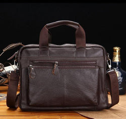 Genuine leather bag business first layer of cow leather man handbags briefcase men messenger shoulder Laptop bags