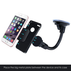 Magnetic Cradle-less Windshield Flexible Car Mount Holder Cell Phone Holder Stand for iPhone Samsung LG Nexus HTC Motorola Sony - DealsBlast.com