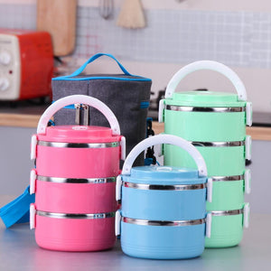 Stainless Steel Bento for Kids Thermal Food Container Food Portable Japanese Insulated Lunch Food box Dinnerware Sets