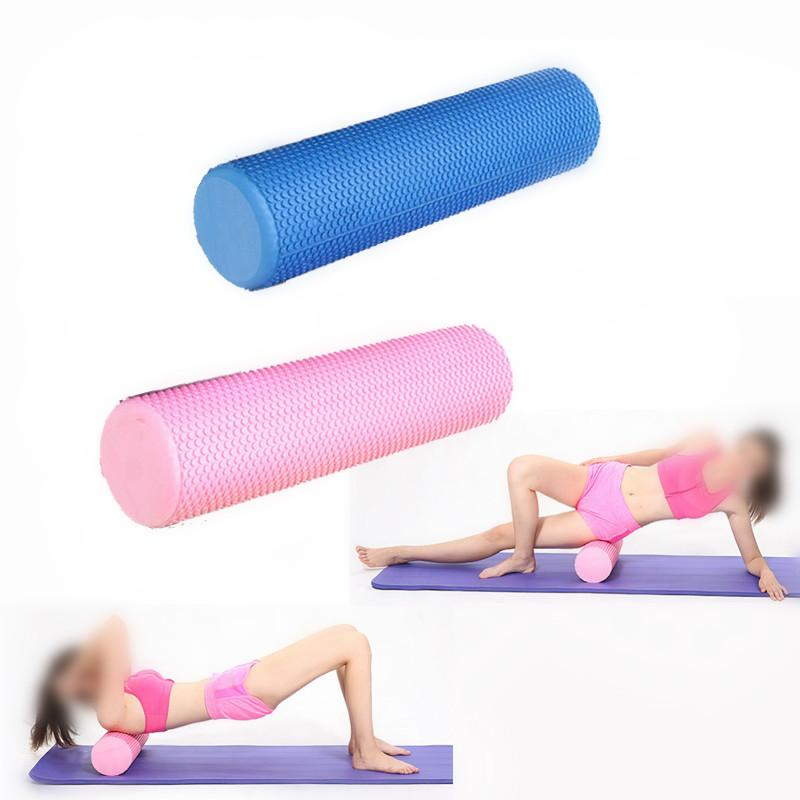 60x15CM Little Dot Yoga Pilates Fitness Foam Roller Massage Grid Therapy Physio Exerciser - DealsBlast.com