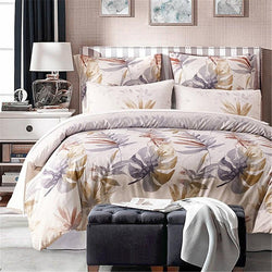 Palace Royal 2/3/4Pcs King Queen Size Duvet Cover Bed Sheet Pillow Case Printed Bedding Set - Deals Blast