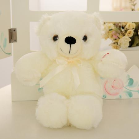 30cm Romantic Colorful Flash Light up LED Teddy Bear Plush Toy Doll Kids Toys Children Christmas Birthday Decoration - DealsBlast.com