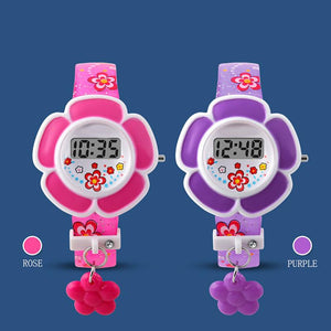 Flower Cute Kids LED Cartoon Silicone Digital Wristwatch - DealsBlast.com