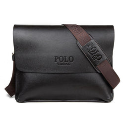 Leather men messenger bags business vintage shoulder Laptop bag black high quality men crossbody bags - DealsBlast.com