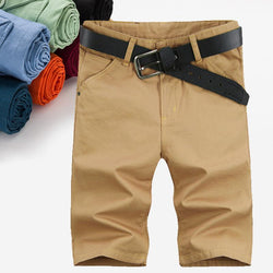 Summer Leisure Men Short Pants Casual pants for Men Natural Cotton Trousers calf length pants Man - DealsBlast.com