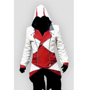 Assassins Creed 3 III Conner Kenway Hoodie Jacket Aassassins Creed Costume Connor Cosplay Novelty Sweatshirt Hoody Jacket Men