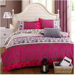 Luxury reactive Print 4Pcs bedding set include Duvet Cover Bed sheet Pillowcase king/Queen/Full size - Deals Blast