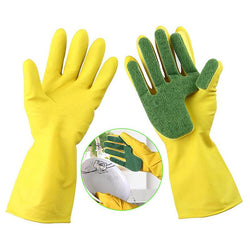 1 Pair Creative Home Washing Cleaning Gloves Garden Kitchen Dish Sponge Fingers Rubber Household Cleaning Gloves for Dishwashing