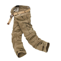 Men Military Cargo Loose Baggy Tactical Trousers Outdoor Multi Pockets Big Size Pants