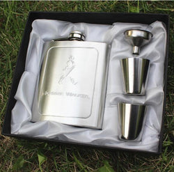 Hip Flask Set 7 Oz Stainless Steel Wine Whiskey Hip Flask Bottle Flagon Kettle Alcohol Hip Flask Engraving - DealsBlast.com