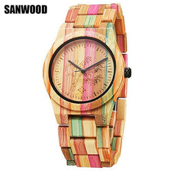 Fashion Bamboo Nature Wood Watch Unisex
