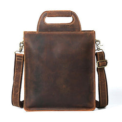 Genuine leather bags for men business horse leather briefcase handbags - DealsBlast.com