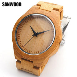Men's watches Top brand Luxury Style Charm Jewelry Bamboo Wooden Watchband Quartz Analog Wood Wrist Watch - DealsBlast.com