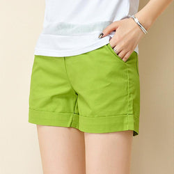 Summer Shorts Women Casual Fashion Candy Color Shorts Female Plus Size Loose Ladies Leisure Shorts - DealsBlast.com
